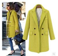 Winter Women Fashion Down Coat 2014 Designer Long Warm Female Wool Parka Outwear Windbreaker England Luxury Jacket