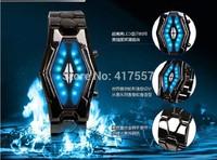 Free shipping LED Watch for Men, Iron Man Retro Robots Cobra Snakehead creative fashion electronic watch +  Send watch box