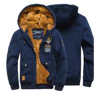 Free shipping 2014 New Men's brand fashion Air force one cardigan napping Hoodies, Winter Sweatshirts jacket Coat / M-XXXL