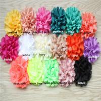 "DHL free shipping 340 pcs/ lots headbands chiffon flowers 3"" chiffon eyelet flowers    ,flowers hair accessories"