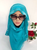 high quality thick cotton rose muslim long hijab shawl scarf size 180cm x 60cm mix colors free shipping by DHL SYF112