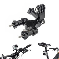 New Bike Handlebar Seatpost  Pole Mount with 3-Way Pivot Arm for Gopro Hero 2 3 3+ 4