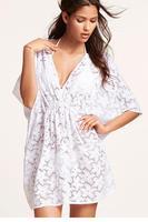 casual women summer dress 2014 vestido de festa vestidos femininos Summer Beach Floral Tunic Dress LC40888