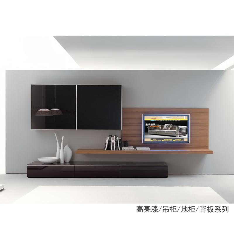 TV cabinet back wall system storage portfolio veneer finishes minimalist minimalist modern new furniture, custom paint(China (Mainland))