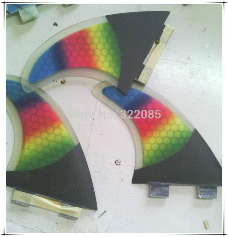 rainbow color saurfboard fin honey comb fin side fin(China (Mainland))