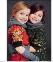 High-End New Brand Design Autumn and Winter Children Clothing Girls Dress Printed Dobby Princess Kids Baby Girls 3-12T