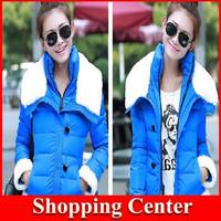 Freeshipping 2014 new woman winter coat slim down short jacket lady warm coat dropshipping