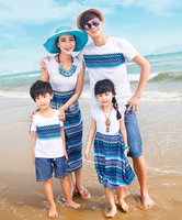 Free Shipping-SG624-Summer Boy Girl Father Mother Family Look Fashion Family Pack Family Set Clothes