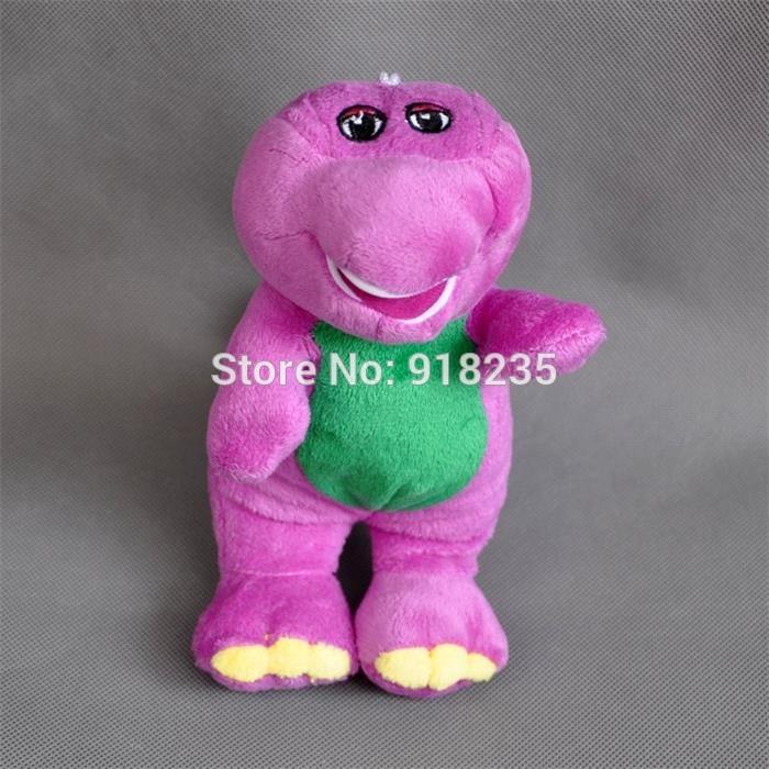 "Free Shipping EMS 100/Lot New Cute 7"" Barney Plush Singing Doll (I LOVE U) #1(China (Mainland))"
