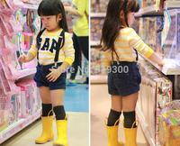 New Arrivals Blue Yellow Rubber Rainboots Boys Girls Fashion Anti-slip Rain Boots Kids Children Waterproof Water Shoes #KS3