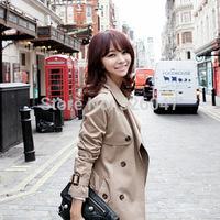 2014 New good quality women's windbreaker Korean fashion Commuter High-grade women trench Wholesale S-XXL