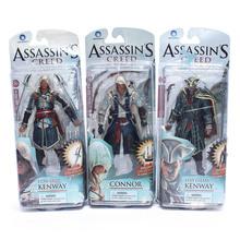Free Shipping Assassins Creed 4 Black Flag Connor Haytham Kenway Edward Kenway PVC Action Figure Toys(China (Mainland))