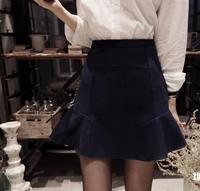 2014 new winter woolen skirt was lanky waist fishtail skirt flounced skirts women winter package hip skirt tutu