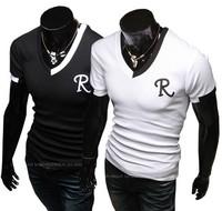 2014 Male Chinese Clothes Fashion Tees,Men T Shirt,Mens Short Sleeve T-shirts,Top Brand Men's Shirts camisetas masculinasRD