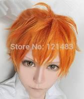 Volleyball Junior ! ! Hyuga shape models Xiang Yang orange wig COS  #2@22