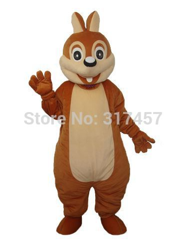 NEW ARRIVE BROWN BIG TOOTH Chipmunk Fancy Dress Mascot Costume Adult Character Cosplay mascot costume free shipping(China (Mainland))