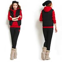 2014 HOT !! SET 3 Letter Print sport sweater autumn season good quailty weight sports Hoodie (hoody,panty,vest) 3pcs sets