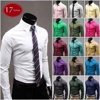 10colors Korean style  Hot selling  Men long sleeve shirts  slim shirt