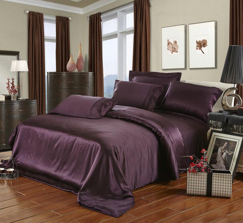 25 mm seamless heavy silk satin 100 mulberry silk sheets set super