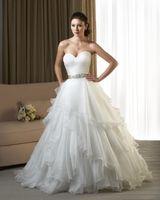 Formal Sweetheart Organza Wedding Dress