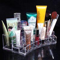 2014 New Cosmetics Storage Box Jewelry Holder Crystal Cosmetic Box Acrylic Makeup Organizer Free Shipping