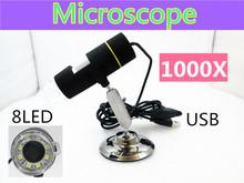 Hd 1000x USB цифровой микроскоп увеличительный монокуляр эндоскопа цифровой компьютер соединения microscopio