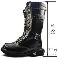 high men boots black color free shipping winter boots wholesale warm cowboy boots PU Size38-43