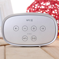 Portable NFC Wireless Bluetooth Stereo Smart Speaker with MIC /TF Card Slot for iPhone /iPad /Cellphone /PC (Silver)