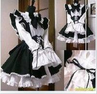 Gothic Lolita Cosplay Costume Home Maid Sissy Dress Custom Made Free Shipping