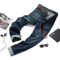 2014 Fashion Designer Men Jeans Famous Brand Regular Trousers Cotton Denim Pants For Man MJS-013