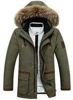 New !! Men's  hooded down coat ( 90% white duck down ) Fur Collar winter Down Jacket Warm Outwear size L-XXXL