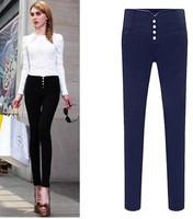 big yards plus size autumn female casual pants trousers pencil pants women stretch  feet lengthen tight High waist