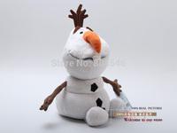 "Free Shipping Frozen Snowman Olaf Plush Toy Plush Doll Soft Stuffed Animal Doll 10"" 25CM Christmas Gifts ANPT210"