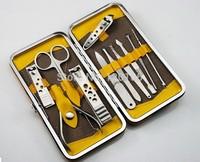 Stone Pattern Case+1 set 11pcs Nail Clipper Kit Nail Care Set Pedicure Scissor Tweezer Knife Ear pick Utility Manicure Set Tools