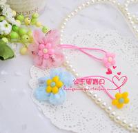 High quality acrylic sunflower headband child hair rope chiffon yarn elastic ring
