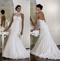 Sexy off-the-shoulder neck wedding dress custom size