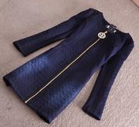 2015 Spring Autumn Women Fashion Denim Coat Embroidery Patchwork  Long  Coat Outerwear Female Jacket