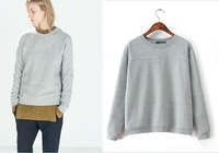 sally she T-58 European American women autumn winter brand fashion sweatshirts decorated women's gray sweater hedging pullovers