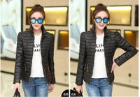 Drop shipping solid color women slim down jacket women winter jacket coat 4 colors L-XXXL