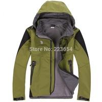 Men winter outdoor jackets fashion waterproof Soft shell Fleece  jackets Sportswear climbing hiking jacket military outerwear