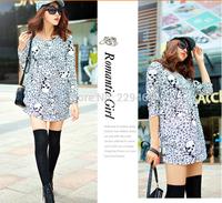 2014 autumn and winter women's long sleeved T-shirt Korean loose big yards long sleeved T-shirt girl bottoming shirt long