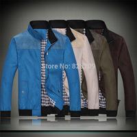 2014 New Fashion Autumn/Winter Men's Outdoor Causal Stand Collar Zipper Slim Fit Jacket Brand Sportwear Plus Size 4XL Tops