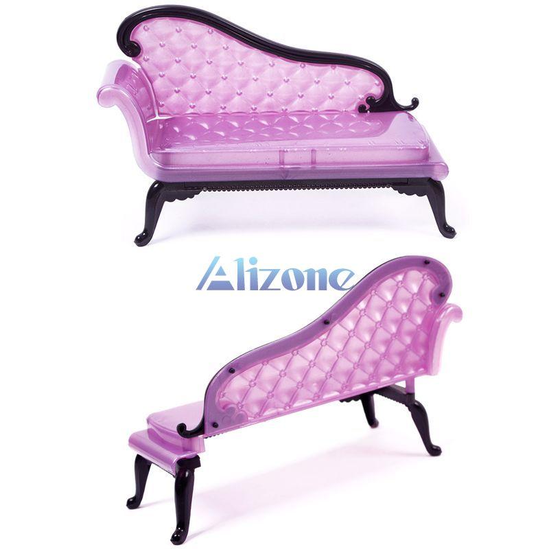 Cute Cartoon Princess Dreamhouse Chair Sofa Furniture Baby Toys For Girls Barbie Dolls Furniture Gift#57693(China (Mainland))