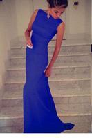 formal dresses vestido de festa longo 2014 new arrival women dress to party evening elegant Black Elegant Maxi Dress LC6743