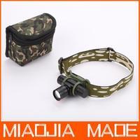 MIAOJIA 3 Mode CREE LED Zoom AA 14500 Headlight Headlamp Torch Light free shipping