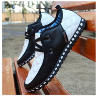 2014 Hot Sale Men Shoes British pu Breathable Shoes Men's Casual Sneakers Lace-Up Han Edition Sandals Wet Shoes