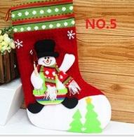 28*20cm 3D Christmas socks Stocking snowman Santa Claus Dear decor bag hanging festival Year XMAS Gift WZ13