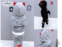 Spring 2014 Korean version of cotton little devil child modeling three-dimensional wing suit jacket + pants free shipping