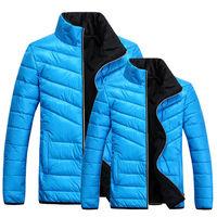 Mens Parkas 2014 Winter Candy Color Lovers Warm and Fashion Parkas Down Cotton Coat Size M L XL XXL XXXL XXXXL