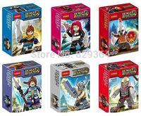Decool LOL 6pcs/lot Minifigures Model Building Blocks Sets Figure Bricks Toys lego compatible Classic toys